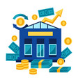 bank and money vector image
