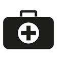 black and white first aid kit silhouette vector image vector image