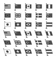 black flag icon set vector image vector image