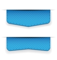 Blue ribbon set vector image