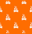 campfire pattern seamless vector image vector image