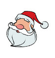 cartoon face santa claus for your christmas and vector image