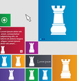 Chess Rook icon sign buttons Modern interface vector image vector image
