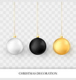 christmas decorations realistic glossy xmas and vector image vector image