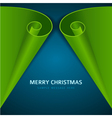 Christmas tree from scroll paper background vector image