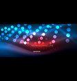 circle abstract lights blue neon glowing vector image vector image
