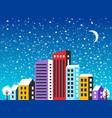 city landscape christmas vector image