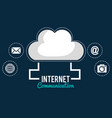 cloud computing with internet communication vector image vector image