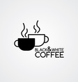 coffee cafe sign logo theme vector image vector image