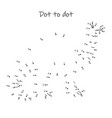 connect dots to reveal dinosaur vector image vector image