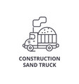 costruction sand truck line icon sign vector image vector image
