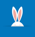 cute easter bunny in blue background vector image vector image