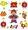 Doodle Of Element Chinese New Year vector image vector image