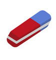 eraser icon flat cartoon style isolated on vector image