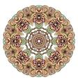 ethnic tribal round ornament colorful mandala vector image vector image