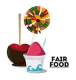 fair food snack carnival icon vector image vector image