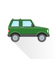 flat green off-road suv car body style icon vector image