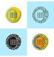flavivirus cell icon set in flat and line style vector image