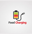 food charging logo icon element and template vector image vector image
