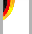 german flag ribbon corner frame vector image vector image