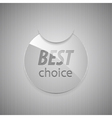Glass best choice round sticker vector image vector image