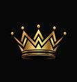 golden crown logo abstract design vector image