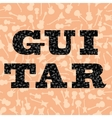 Guitar Silhouettes Seamless Pattern vector image vector image