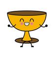 holy chalice isolated kawaii cartoon vector image vector image