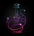 hookah neon vector image vector image