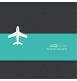 Icon airplane and banner vector image