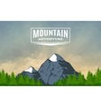 Landscape With Mountain Peak 3 vector image vector image