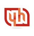 Logo Letter Infinity Number 4 Lettering Design vector image vector image