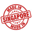 made in singapore red grunge round stamp vector image vector image