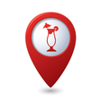 Map pointer with cocktail icon vector | Price: 1 Credit (USD $1)