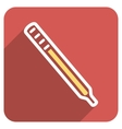 Medical Thermometer Flat Rounded Square Icon with vector image vector image