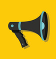 megaphone in flat style with shadow vector image vector image