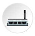Modem icon flat style vector image vector image