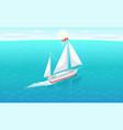 modern yacht marine nautical personal ship icon vector image vector image