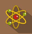 nucleus and orbiting electrons icon flat style vector image vector image