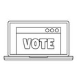 online vote icon outline style vector image