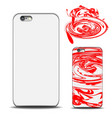 realistic phone cover mockup blank template for vector image