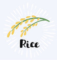 rice logo and sign vector image vector image