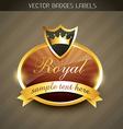 royal luxury label vector image vector image