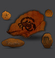 scorpiozodiac in the form of cave painting vector image vector image