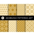 Seamless patterns set Geometric textures vector image