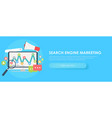 search engine marketing banner vector image vector image