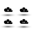 set of cloud icon computing concept design upload vector image
