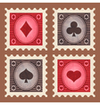 Set of Poker Stamps vector image vector image