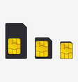 set of sim cards of different sizes realistic vector image
