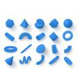 set realistic 3d geometric figures vector image vector image